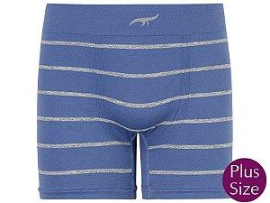Cueca Boxer Stripes sem Costura Azul