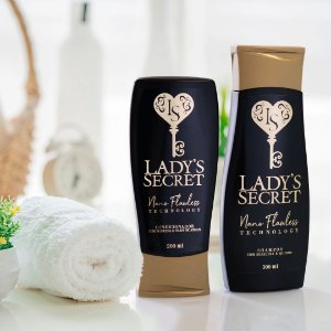 KIT Shampoo e Condicionador Lady's Secret Nano Flawless Technology 300 ml