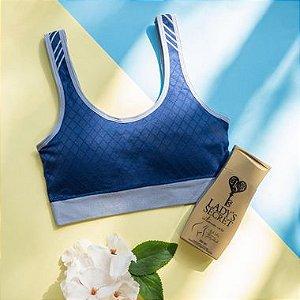 Kit Top Fitness Bojo Removível Cobalto Zee Rucci + Sabonete Íntimo Lady's Secret Intimum Care 200 ml