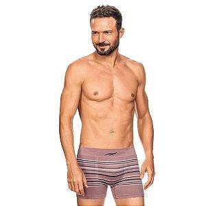 Cueca Boxer Listrada Sem Costura Rosa