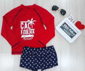 Kit Blusa ML Beach California c/Sungão