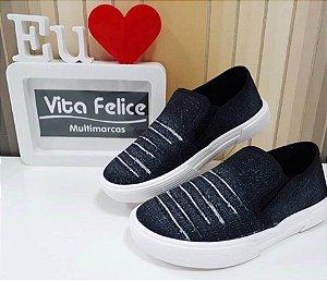 Tênis Tecido Jeans Preto