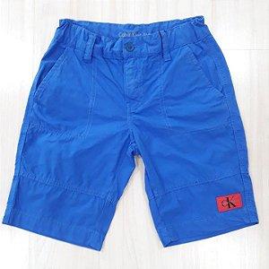Bermuda Sarja Azul Bic