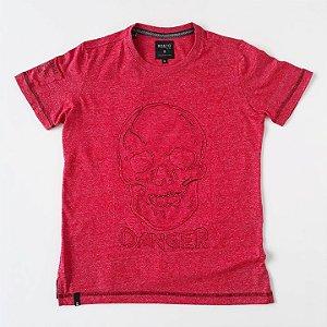 Camiseta MC Diferenciada Caveira Vermelho