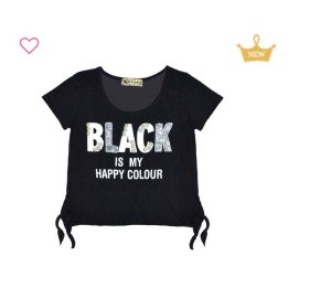 Blusa MC Black Bordado