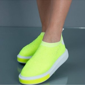 Tênis Tecido Lima Neon