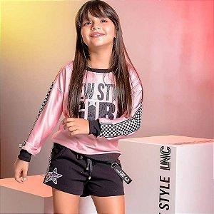 Conjunto Blusa ML New Style/Shorts