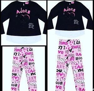 Conjunto Blusa ML Adore / Legging
