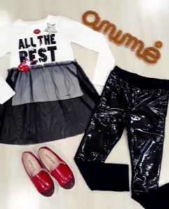 Conjunto Blusa ML The Best/ Calça Montaria Vinil