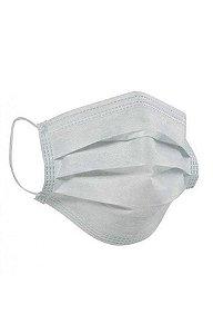 máscara cirúrgica branca tripla com elastico 50un