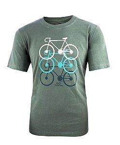 Camiseta Marcio May Verde Bicicletas Masculina