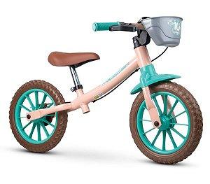 Bicicleta Infantil Nathor Balance Love c/ Freio (equilíbrio)