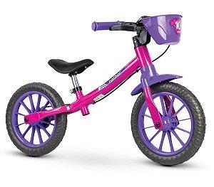 Bicicleta Infantil Nathor Balance Feminina c/ Freio (equilíbrio)