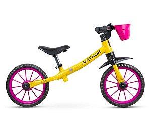 Bicicleta Infantil Nathor Balance Drop s/ Freios c/ Rolamento (equilíbrio)