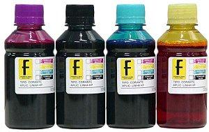 500ml de Tinta HP Corante para Impressoras Cartuchos Bulk Ink Recarga Universal P/ Todos Modelos PRETO / AZUL / MAGENTA / AMARELO