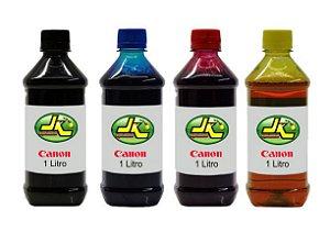 1 Litro de Tinta Canon Corante para Impressoras Cartuchos Bulk Ink Recarga Universal P/ Todos Modelos PRETO / AZUL / MAGENTA / AMARELO