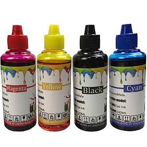 100ml de Tinta HP Corante para Impressoras Cartuchos Bulk Ink Recarga Universal P/ Todos Modelos PRETO / AZUL / MAGENTA / AMARELO / LIGHTS