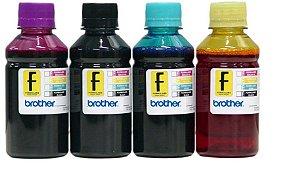 100ml de Tinta BROTHER Corante para Impressoras Cartuchos Bulk Ink Recarga Universal P/ Todos Modelos PRETO / AZUL / MAGENTA / AMARELO