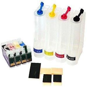 Bulk Ink Impressoras Epson Modelos T25, TX123, TX125, TX135, TX133 + 400ml de Tintas