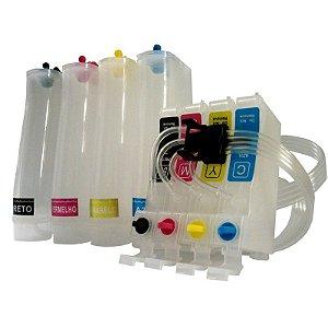 Bulk Ink Impressoras Epson Modelos TX 115 TX105 T23 T24 + 400ml de Tintas