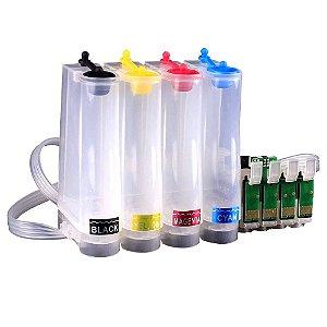 Bulk Ink Impressoras Epson Modelos Xp204 Xp214 Xp401 Xp411  + 400ml de Tintas XP 214 401 411 204