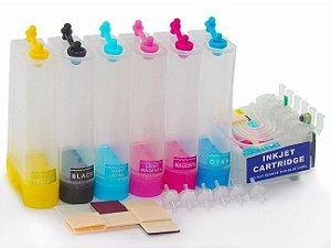 Bulk Ink Impressoras Epson Modelos T50, R270, R290, T700W, TX720WD, TX730WD, R390, RX590 - Sem Tintas