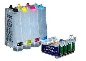 Bulk Ink Impressoras Epson Modelos Tx130 Tx120 T22 T1321lr Stylus T1321 - Sem Tintas