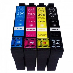 Kit 4 Cartucho Impressora Expression Epson  Xp231 Xp241 Xp431 Xp441 XP 231 241 431 441 Tinta T2971 T2962 T2963 T2964 Preto e Colorido Compativel