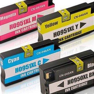 Kit 4 Cartucho Compativel Linha 950xl 951xl 8100 8600 8620 8630 Impressora 4 Cores Cartuchos novos compativeis com HP Preto e Colorido 950 951 XL