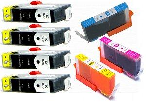 Cartucho Tinta 670XL Impressora Hp 4615 3525 5525 4625 670 XL Alto Rendimento