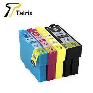 Kit 4 Cartucho Compatível 140 T1401 T1402 T1403 T1404 Tinta para Impressora Epson Preto e Colorido