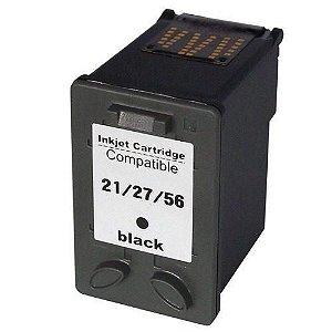 Cartucho  Universal  - 21 | 27 | 56 | 21xl Black 14ml 8727 6656 Preto para Impressora compatível com HP