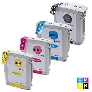 Kit 4 Cartucho 940xl Compatível Officejet Pro 8000 Novo 940