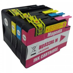 Kit 4 Cartucho Compatível 932xl 933xl Impressora HP 7110 7510 7610 7612 Xl 4 Tintas Preto e Colorido 932 933