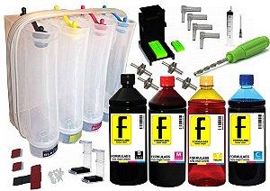Big Bulk Ink Tanque de 800ml para Impressora Hp 2676 3776 3786 2136 1115 3775 3785 + 2 Litros + Válvula