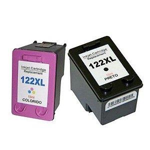 Cartucho de Tinta Compatível 122xl Preto ou Colorido Impressora HP Deskjet 1000 | 1050 | 1055 | 2000 | 2050 | 3000 | 3050 | 3050A 122 XL