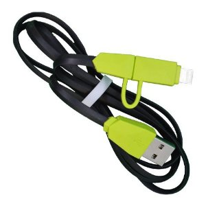 CABO IPHONE EMBORRACHADO COM MICRO-USB