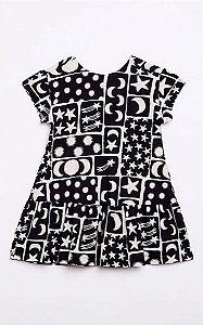 Vestido Malha Domino Fabula
