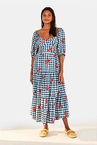 Vestido Cropped Pitaga Vichy  Farm