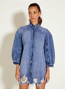 Vestido Curto Jeans Indigo Open