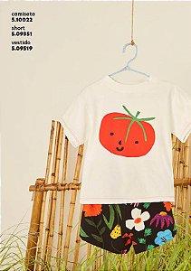 Camiseta Silk Tomate Fabula