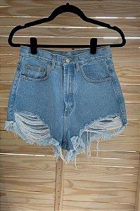 Short Jeans Curva Claro Farm