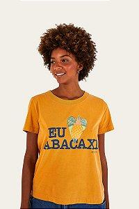 T-shirt Fit Silk Eu Amo Abacaxi Farm