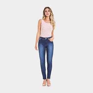Calça Jeans com Elastano Destroyer Escuro Lunender