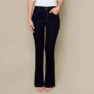 Calça Jeans Escura com Elastano Bootcut Lunender