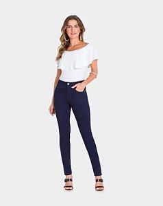 Calça Jeans com Elastano Escuro Lunender