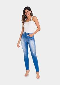 Calça Jeans Cintura Alta Lunender