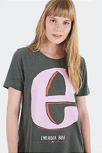 T-shirt Letra E Farm