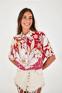 Camisa Mistura Floral Line Farm