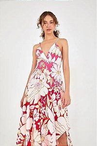 Vestido Midi Floral Line Farm